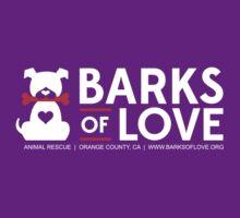 Clothing - Barks of Love - Main Logo #2 (Dark) by Barks of Love Animal Rescue