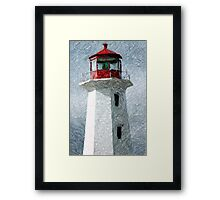 Lighthouse At Peggy's Cove Framed Print