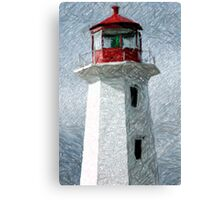 Lighthouse At Peggy's Cove Canvas Print