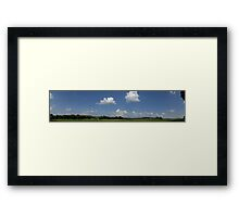 HDR Composite - Working Farm Panorama in High Summer Framed Print