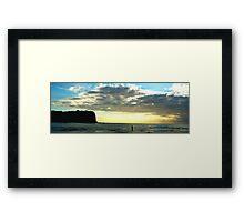 Lonely- Mona vale Beach, Sydney Australia Framed Print