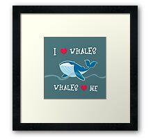 love whales Framed Print
