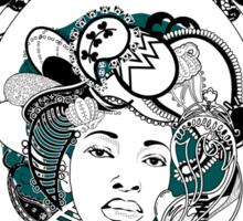 PaisleyAfroChic Sticker