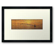 Wake - Narrabeen Lakes, Sydney Beaches Sydney Australia Framed Print