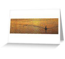 Wake - Narrabeen Lakes, Sydney Beaches Sydney Australia Greeting Card