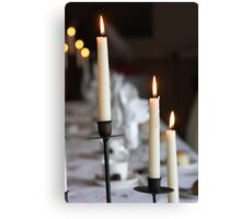 Candles at Dinner Canvas Print
