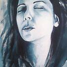 Self Portrait - acrylic # 3 by Lee Wilde