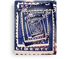 Spinning Stamps of Liberty Canvas Print