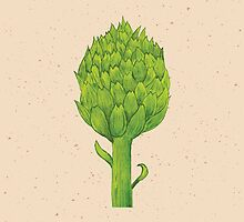 Watercolor artichoke by los-ojos-pardos