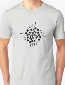 Mandala 1 Back In Black Unisex T-Shirt