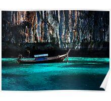 Longboat off Phi Phi Island Poster