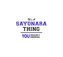 It's a SAYONARA thing, you wouldn't understand !! by thestarmaker