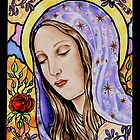 Holy Mother Stained Glass by Tahnja