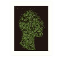 Think Green Profile Art Print