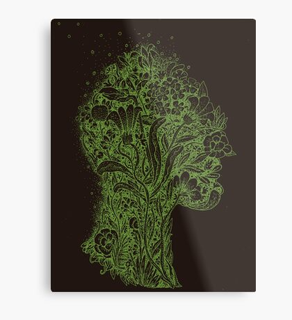 Think Green Profile Metal Print