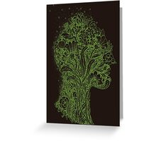 Think Green Profile Greeting Card