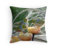 I Have To Say... I Do Prefer Soft Serve - Silver-Eye - NZ Throw Pillow