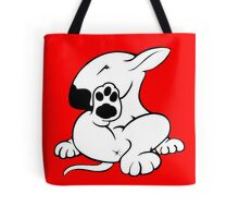 English Bull Terrier Kicking Back  Tote Bag