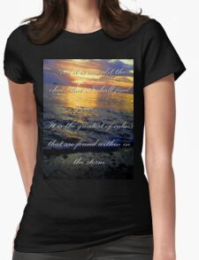 Chaos Peace Womens Fitted T-Shirt