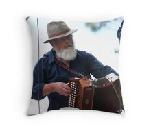 Squeezing Out A Tune..... Throw Pillow