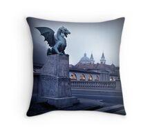 Ljubljana Dragon Throw Pillow