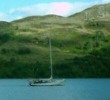 boat on loch ness by peter  kidd