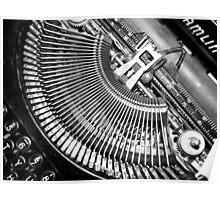 Typewriter. Poster