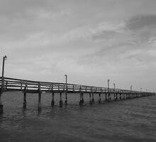 Pier on the Horizon by Garrett Santos