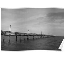 Pier on the Horizon Poster