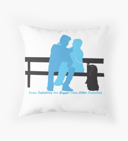 Some infinities are bigger than other infinities Throw Pillow