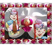 Jester Buttons Toddler 72 cm height Photographic Print