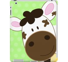 Cute Happy Cow -  Green iPad Case/Skin