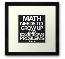 Math Problems Framed Print
