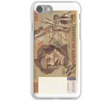 100 Old French Franc note bill iPhone Case/Skin