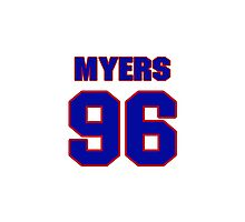 National football player Michael Myers jersey 96 Photographic Print