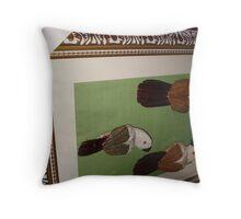 Frame on original birds Throw Pillow
