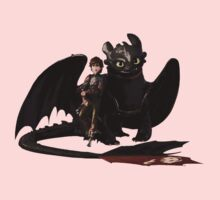 toothless with hiccup One Piece - Long Sleeve