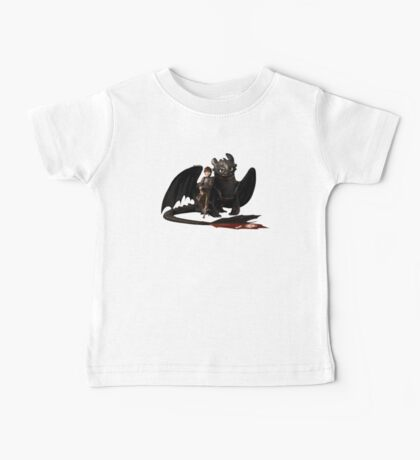 toothless with hiccup Baby Tee