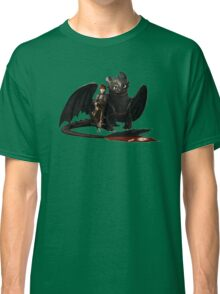 toothless with hiccup Classic T-Shirt