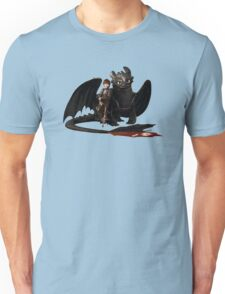 toothless with hiccup Unisex T-Shirt