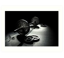 Olympic Weight Training Art Print