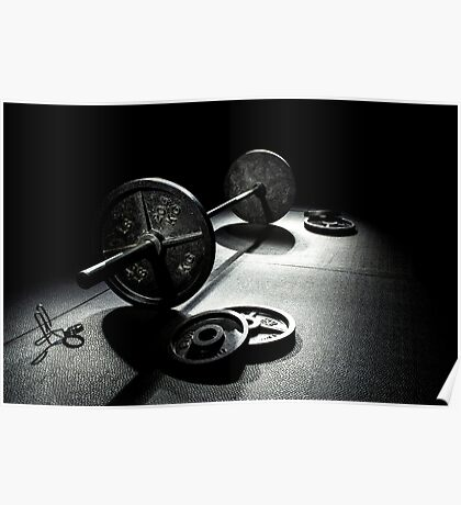 Olympic Weight Training Poster