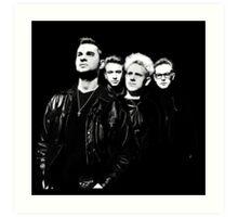 Depeche Mode : 90's Dave, Alan, Martin, Andy Digitalpaint Cutout Art Print