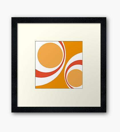 orange retro Framed Print