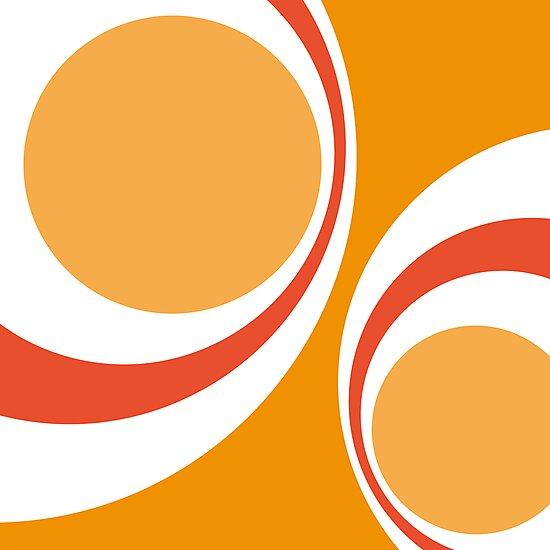 orange retro by Micheline Kanzy