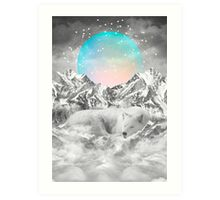 Put Your Thoughts To Sleep (Peaceful Moon / Wolf Spirit) Art Print