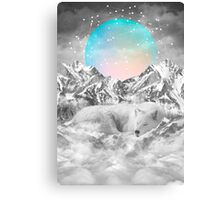 Put Your Thoughts To Sleep (Peaceful Moon / Wolf Spirit) Canvas Print