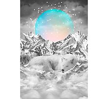 Put Your Thoughts To Sleep (Peaceful Moon / Wolf Spirit) Photographic Print