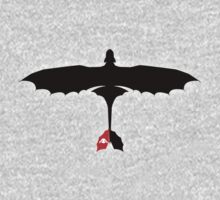 How to Train Your Dragon - Night Fury - Toothless Silhouette Kids Clothes