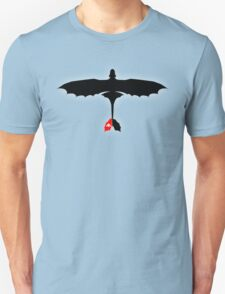 How to Train Your Dragon - Night Fury - Toothless Silhouette Unisex T-Shirt